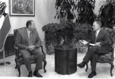 With Lebanese President Emile Lahoud