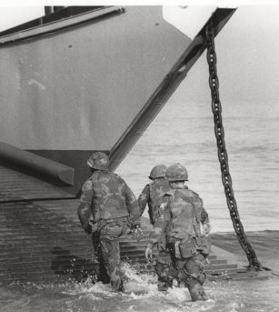 marines wade