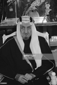 King Faisal of Saudi Arabia on an official visit in Damas. (Photo by Claude Salhani/Sygma via Getty Images)